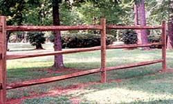 Split Rail Fence - Pressure Treated Split Rail Fence